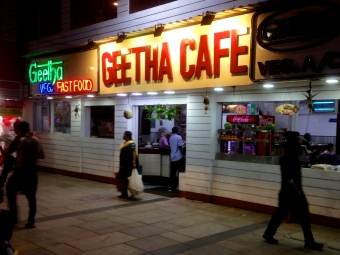 Chennai city night life style photography - Pondy Bazaar - geetha cafe - கீதா கஃபே